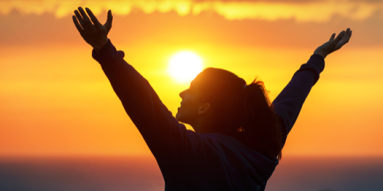 happy-successful-woman-against-sunset