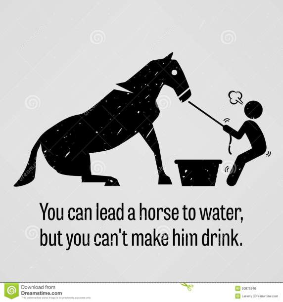 you-can-lead-horse-to-water-you-cannot-make-him-drink-motivational-inspirational-poster-representing-proverb-sayings-50879946